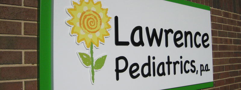 Lawrence Pediatrics Front Sign